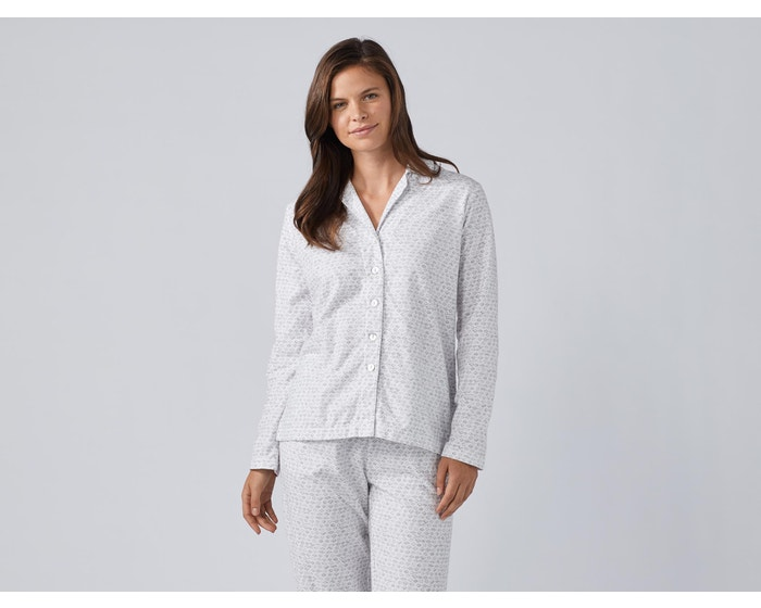 0454bf2d508 Womens Cloud Brushed Organic Flannel Pajama Set | Coyuchi