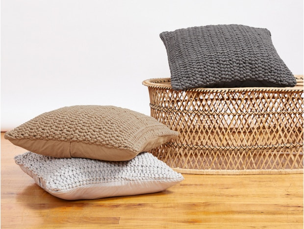 Woven Rope Organic Pillow Cover