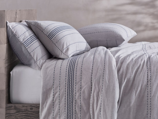 Rippled Stripe Organic Shams