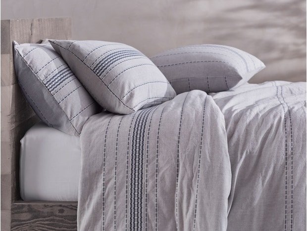Organic Rippled Stripe Shams