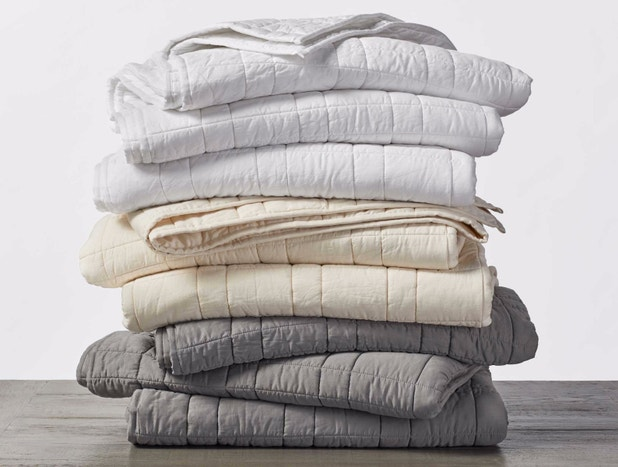 Double-Stitched Quilted Organic Cotton Comforter