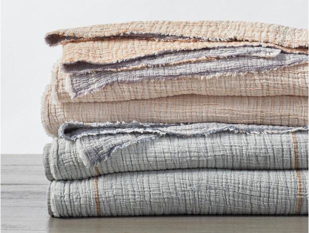 Topanga Matelasse Organic Blanket Swatch