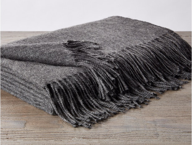 Alpaca Fringe Throw