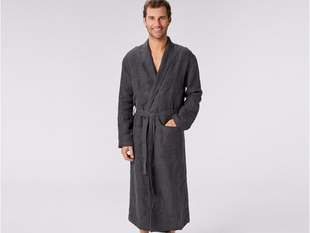 Men's Relaxed Linen Robe