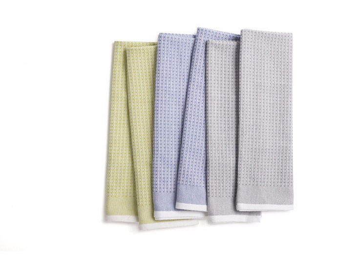 Organic Waffle Kitchen Towels Set Of 6