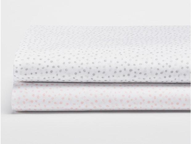 Watercolor Printed Dot Organic Sheets