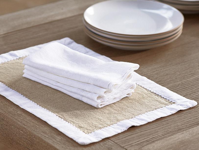 Simple Linen Placements + Simple Linen Napkins