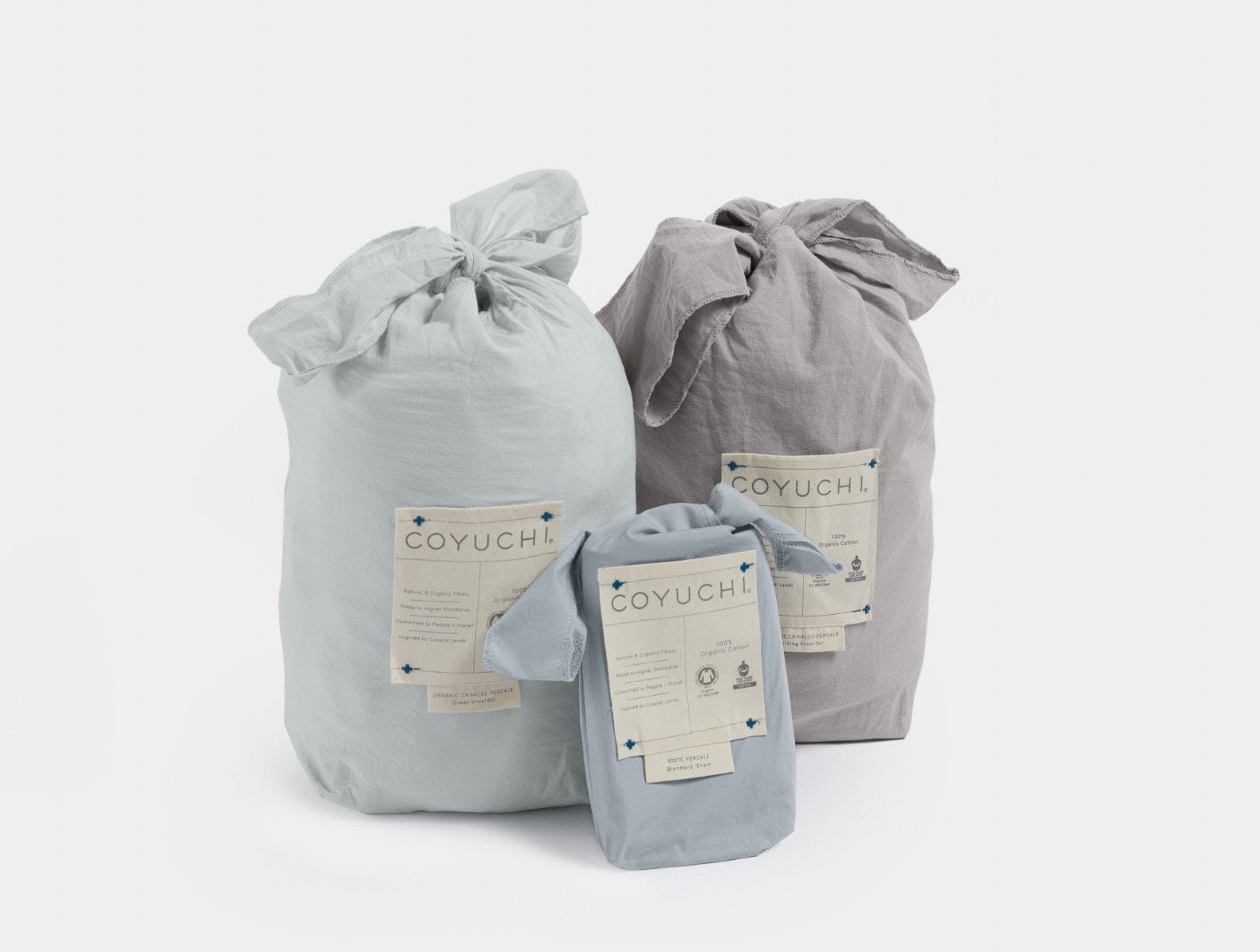 Coyuchi fabric bags