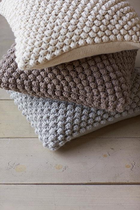 Alpaca Pebble Knit Pillow