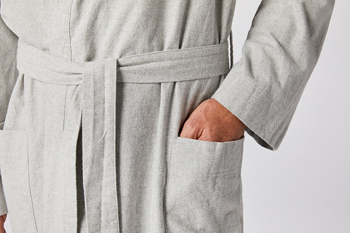 c9ecf5a5e543 Unisex Flannel Robe