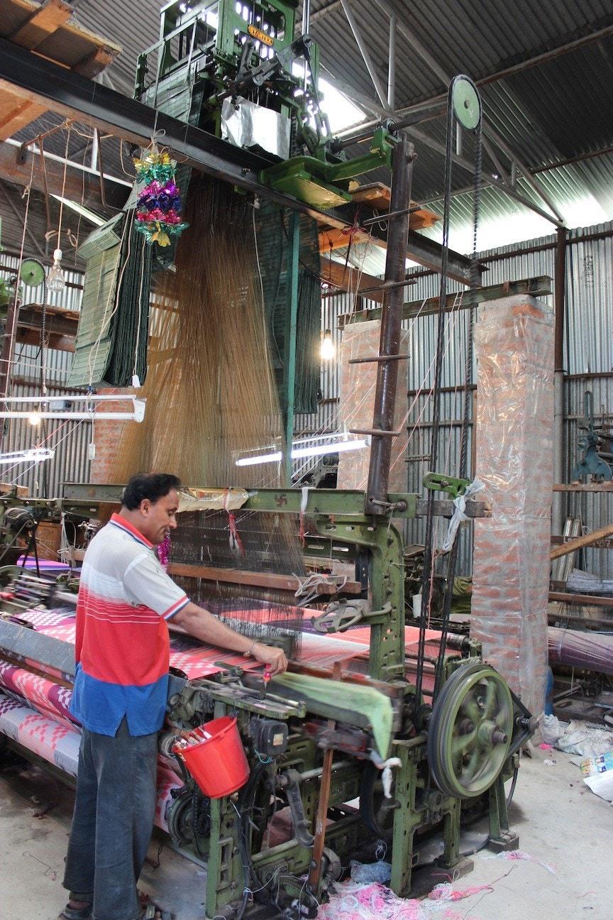 Jacquard Loom Weaving