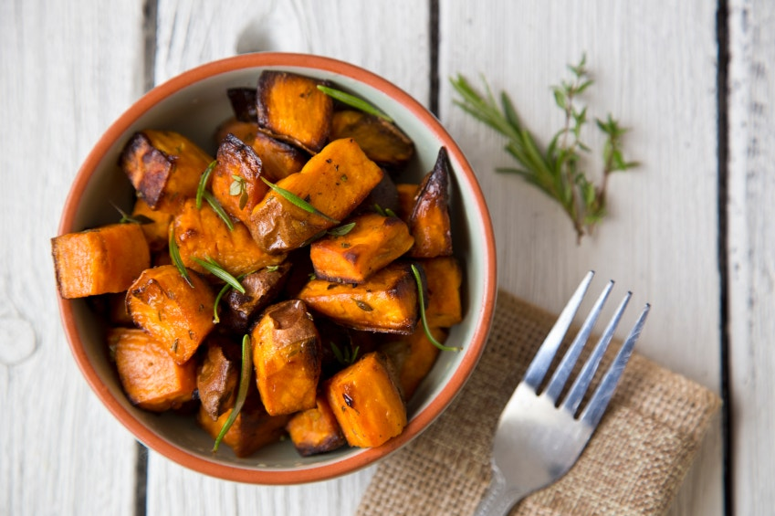 Chunky Roasted Sweet Potatoes