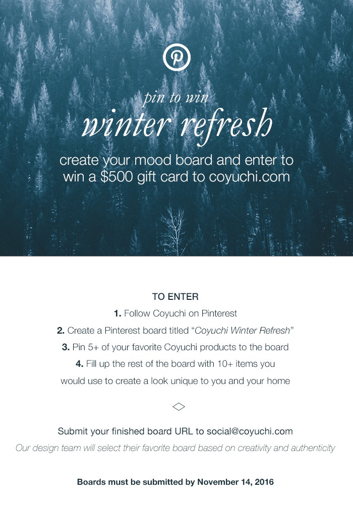 Winter Refresh Giveaway Coyuchi