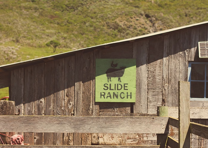 slide ranch sign
