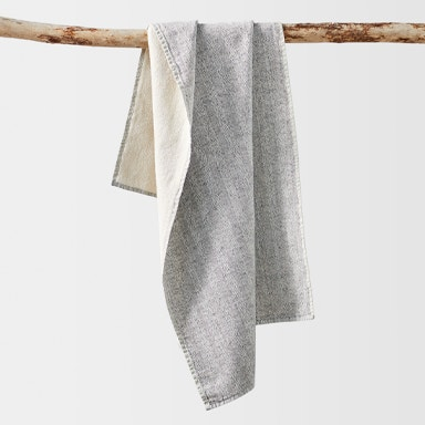 hanging catalina towel in charcoal