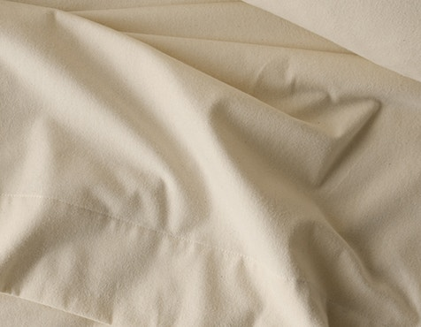 detail image of Cloud Brushed™ Organic Flannel Sheets in Undyed