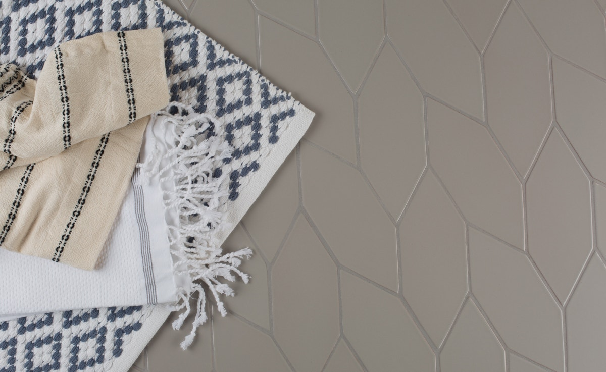 Pictured Above Is Coyuchis Mediterranean Towels In Alpine White With Slate Stripe Rippled Shower Curtain Diamond Pebbled Rug
