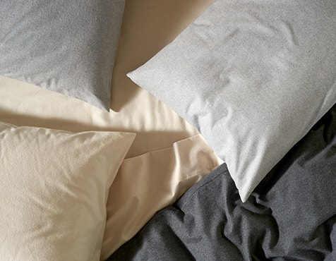 bed with Cloud Brushed™ Organic Flannel Sheets
