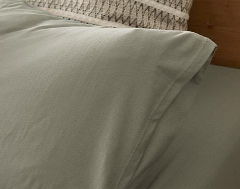 Organic Jersey Pillowcase in Laurel