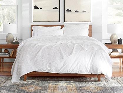 Avila Organic Matelasse Blanket