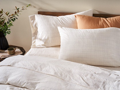 Organic Crinkled Percale Bedding
