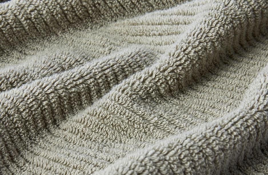 close up detail of temescal towel in laurel