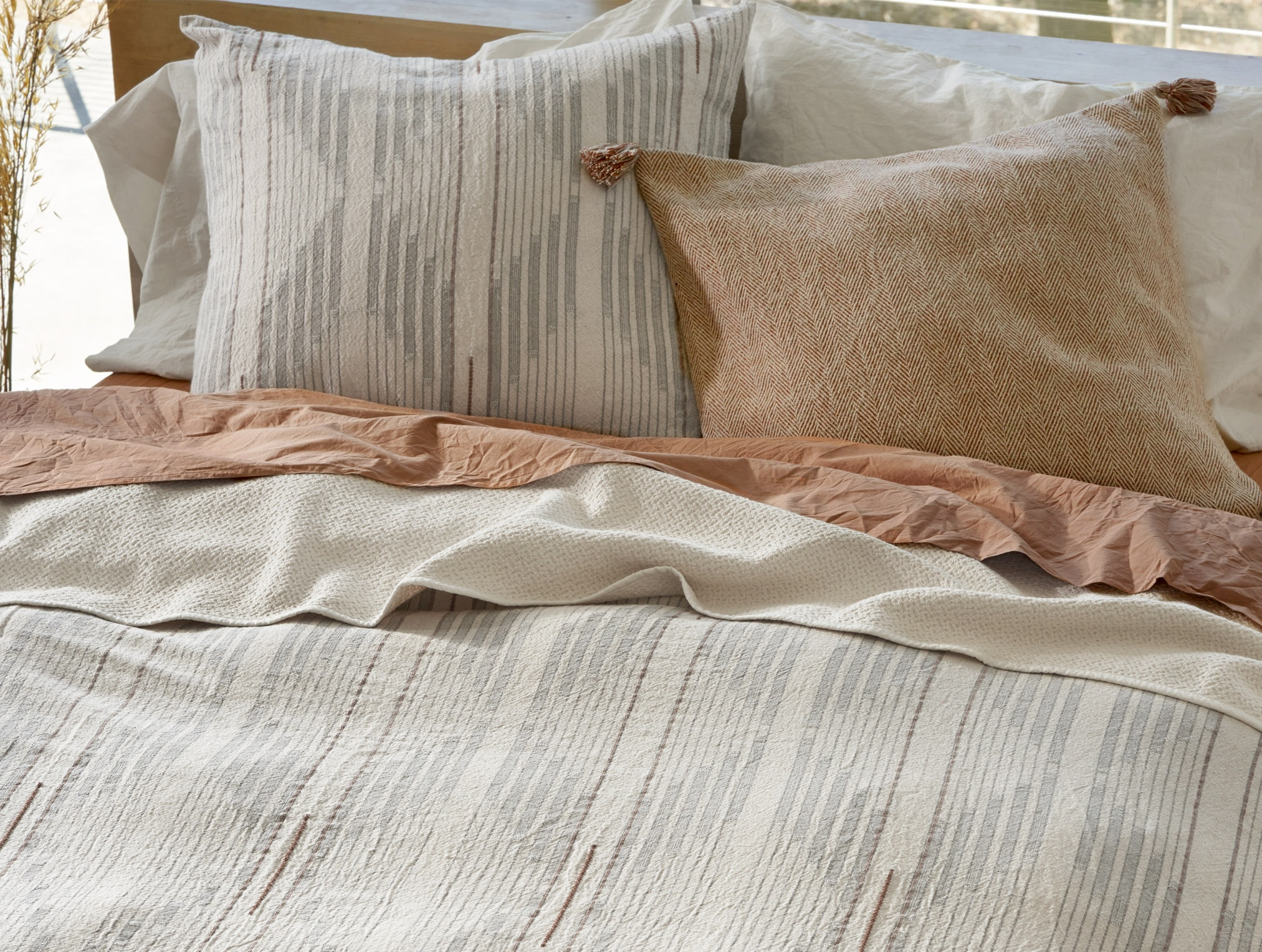 Detail of Morelia Organic Duvet Cover
