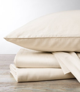 300 Thread Count Organic Sateen Sheet Set in Undyed