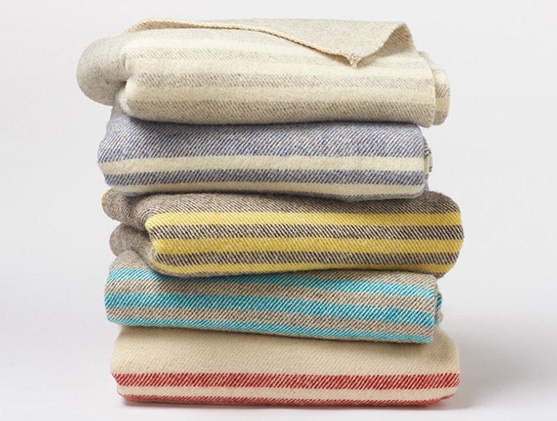 Striped Wool Blanket Coyuchi New Washable Wool Throw Blanket
