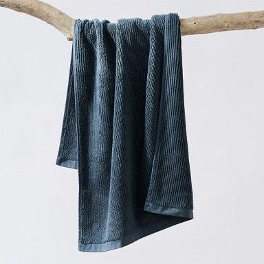 hanging temescal towel in deep aqua