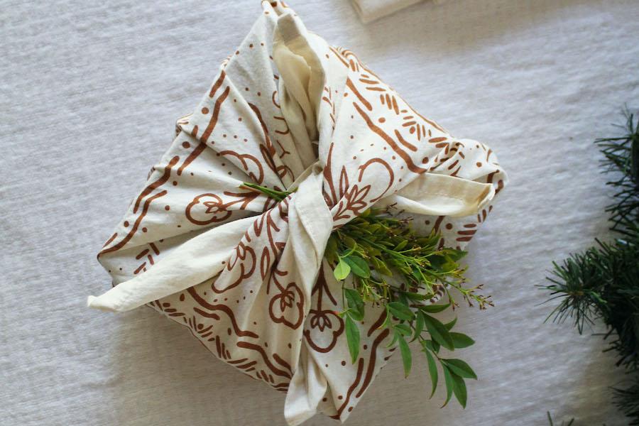 White Buffalo Bandanas wrapped furoshiki style