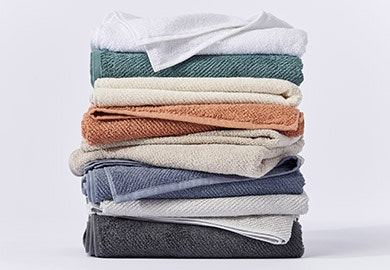stack of Coyuchi's Air Weight® Organic Towels