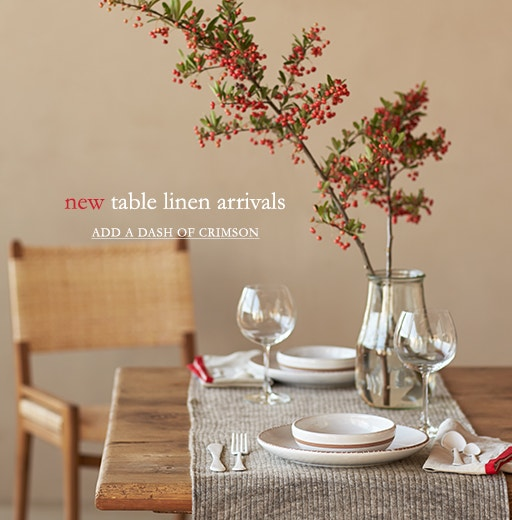 Shop the Table Linen Sale: 20% off for a limited time