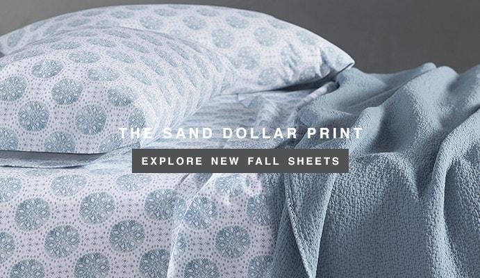 Shop Organic Printed Sand Dollar Sheets