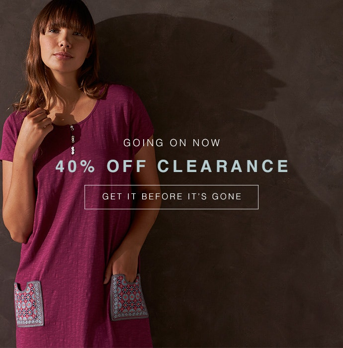 Shop Clearance now for up to 40% off limited items