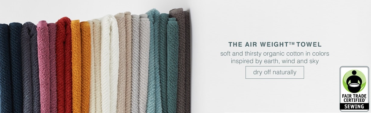 Shop Fair Trade Certified: Air Weight Towels