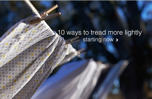10 ways to tread more lightly