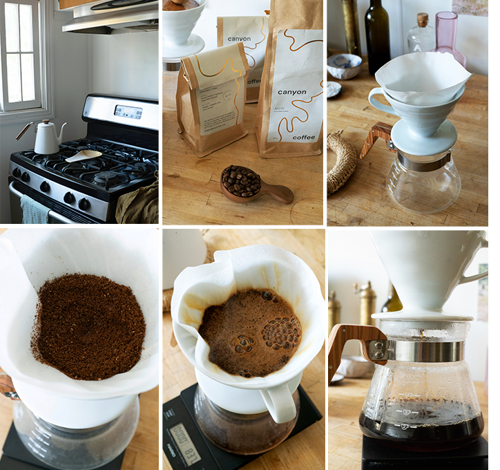 A step by step tutorial of how to create Canyon Coffee's V60 Pour Over Coffee
