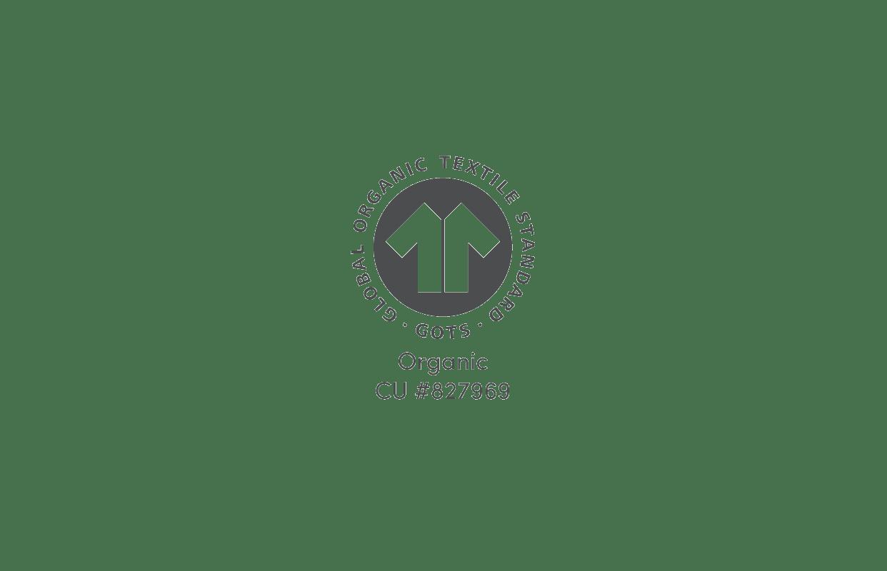 Coyuchi's GOTS Certification logo