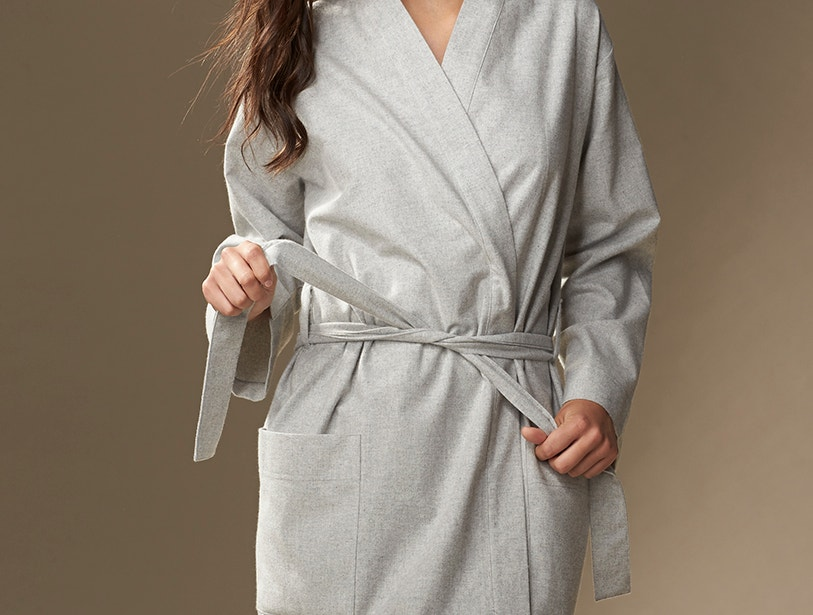 Unisex Flannel Robe