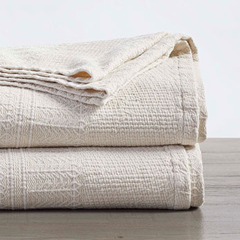 Willow Organic Matelasse Blanket