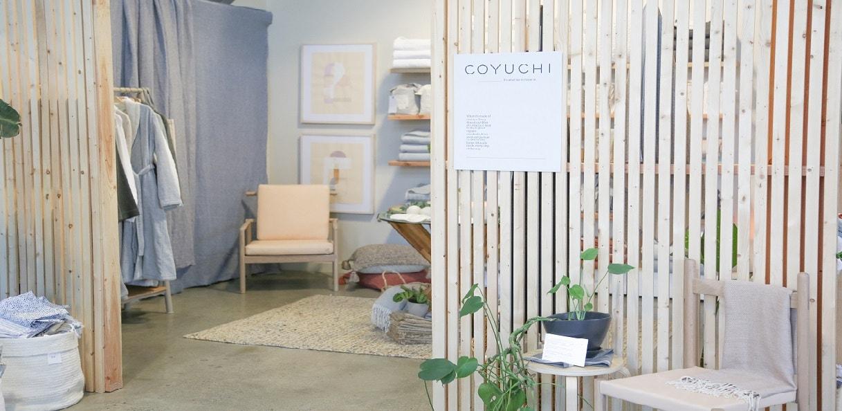 Coyuchi popup space
