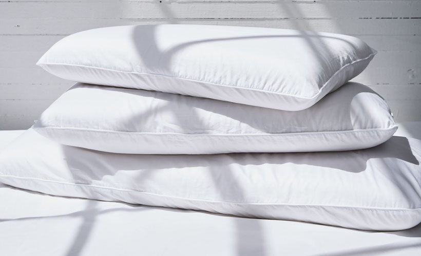 Stack of Organic Latex Molded Pillows