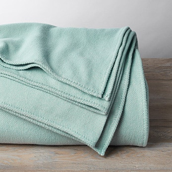 Carmel Washable Cotton and Wool Blanket