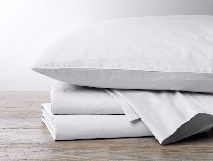 300 thread count percale sheets in alpine white