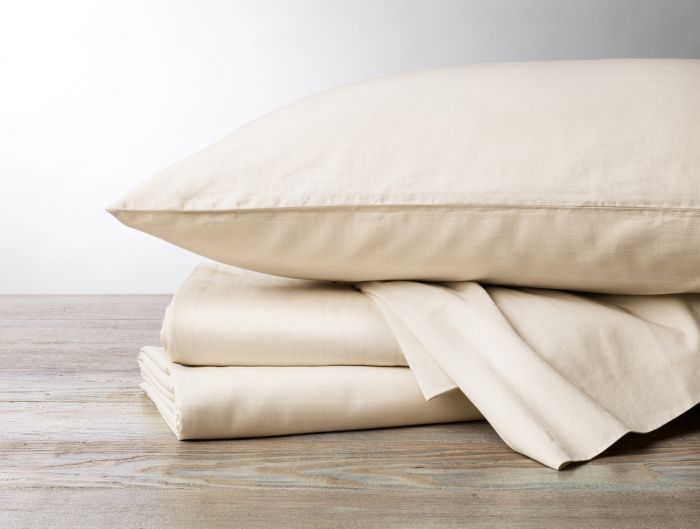 300 thread count organic sateen sheets in undyed