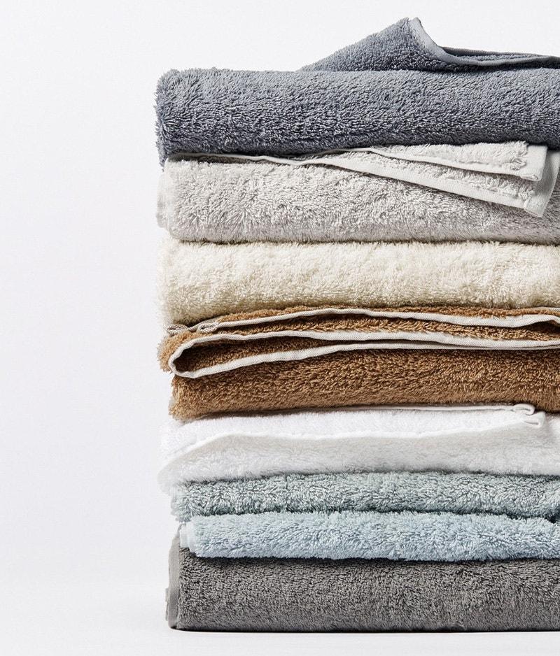 hanging cloud loom towel in taupe