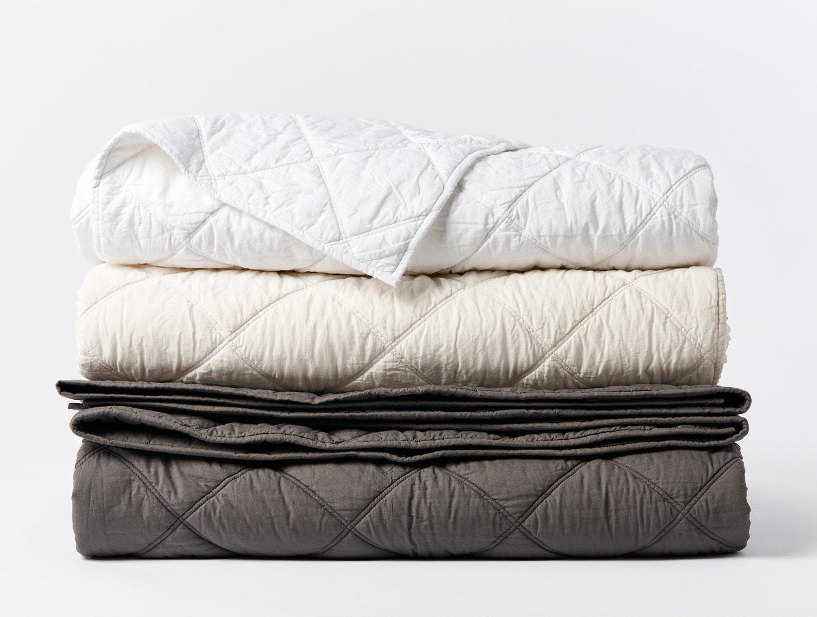 stacked organic cotton comforter