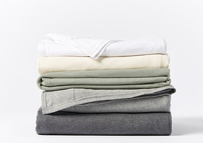 stack of Organic Jersey Sheets