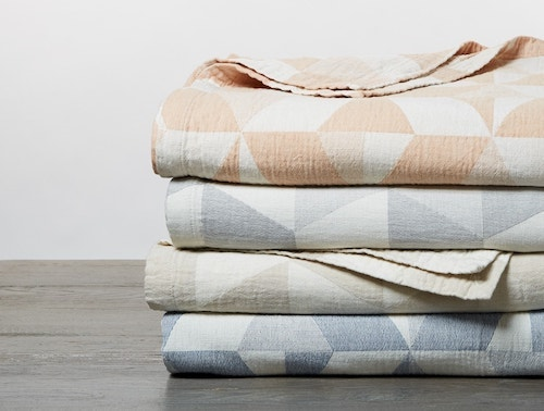 stack of Pismo Organic Blankets